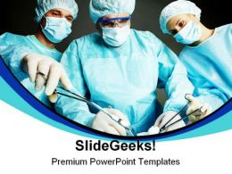 Doctors In Operation Hospitality PowerPoint Backgrounds And Templates 0111
