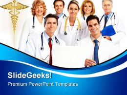 Doctors Team Medical PowerPoint Templates And PowerPoint Backgrounds 0411