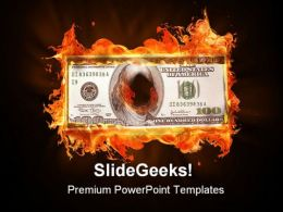 Dollar Burning Money PowerPoint Templates And PowerPoint Backgrounds 0411