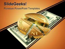 Dollar Chart Money PowerPoint Template 0610