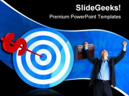 Dollar Darts Business PowerPoint Templates And PowerPoint Backgrounds 0611