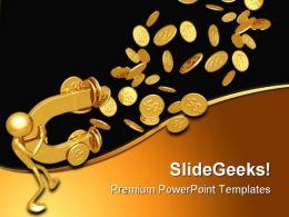 Dollar Magnet Finance PowerPoint Template 0610