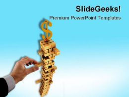 Dollar Sign Finance PowerPoint Templates And PowerPoint Backgrounds 0811