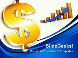 Dollar Sign Money PowerPoint Backgrounds And Templates 0111