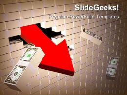 Dollar Wall Money PowerPoint Templates And PowerPoint Backgrounds 0311