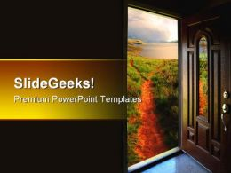 Door To Adventure Nature PowerPoint Templates And PowerPoint Backgrounds 0611