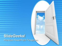 Door To Sky Success PowerPoint Templates And PowerPoint Backgrounds 0811