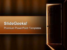 Door Way Nature PowerPoint Templates And PowerPoint Backgrounds 0311