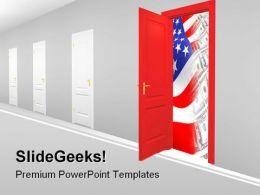 Doorway To New Business PowerPoint Template 0910