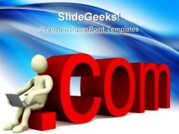 Dot Com Computer PowerPoint Templates And PowerPoint Backgrounds 0511