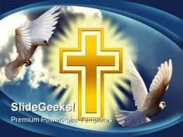 Dove Cross Light Religion PowerPoint Template 0610  Presentation Themes and Graphics Slide01