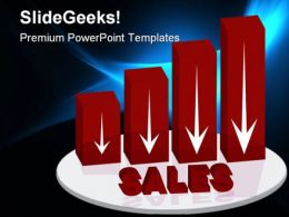 Down Sales Business PowerPoint Templates And PowerPoint Backgrounds 0711