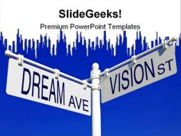Dream And Vision Signs Metaphor PowerPoint Templates And PowerPoint Backgrounds 0811