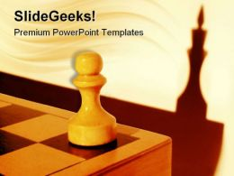 Dream Of A Pawn Game PowerPoint Templates And PowerPoint Backgrounds 0311