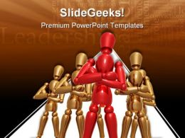 Dummy Team Leadership PowerPoint Templates And PowerPoint Backgrounds 0611