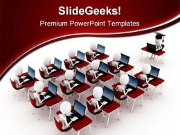 E Learning Computer PowerPoint Templates And PowerPoint Backgrounds 0311