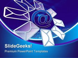 E Mail And Internet Computer PowerPoint Templates And PowerPoint Backgrounds 0611