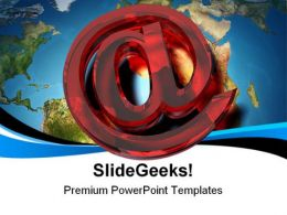 E Mail Symbol Globe PowerPoint Templates And PowerPoint Backgrounds 0111
