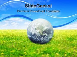 Earth And Nature Globe PowerPoint Template 1110