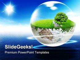 Earth Beauty PowerPoint Template 0610
