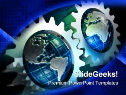 Earth Concept Gears Industrial PowerPoint Templates And PowerPoint Backgrounds 0611