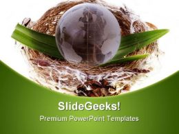 Earth Globe Business PowerPoint Templates And PowerPoint Backgrounds 0511
