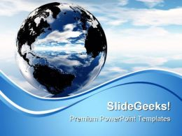 Earth Globe PowerPoint Templates And PowerPoint Backgrounds 0611