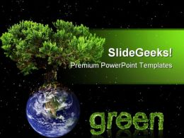 Earth Green Tree Nature PowerPoint Templates And PowerPoint Backgrounds 0611