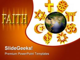 Earth Religious Symbols PowerPoint Templates And PowerPoint Backgrounds 0311