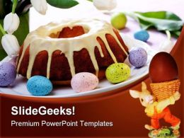 Easter Cake Food PowerPoint Templates And PowerPoint Backgrounds 0211