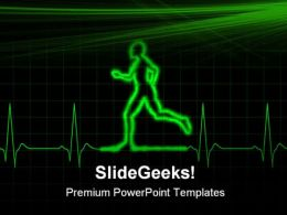 Ecg Runner Health PowerPoint Templates And PowerPoint Backgrounds 0611