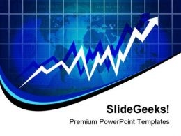Economy Rising Business PowerPoint Template 0910