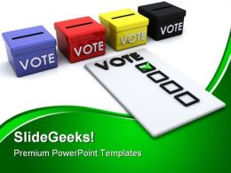 Election Ballot Box Government PowerPoint Templates And PowerPoint Backgrounds 0311