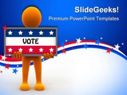 Election Time Americana PowerPoint Templates And PowerPoint Backgrounds 0511