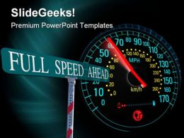 Electric Car Speedometer Travel PowerPoint Templates And PowerPoint Backgrounds 0211