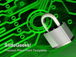 Electronic Lock Security PowerPoint Templates And PowerPoint Backgrounds 0611