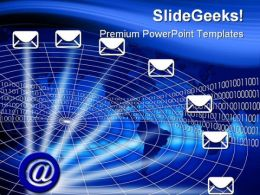 Email Illustration Internet PowerPoint Templates And PowerPoint Backgrounds 0511