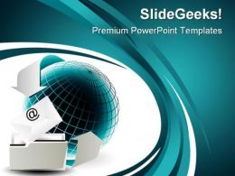 Email Internet PowerPoint Templates And PowerPoint Backgrounds 0411