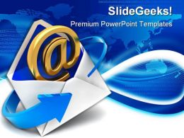 Email Sign Internet PowerPoint Templates And PowerPoint Backgrounds 0111