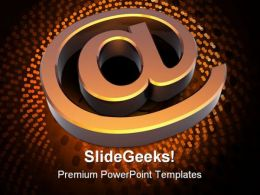 Email Sign Internet PowerPoint Templates And PowerPoint Backgrounds 0211