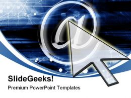 Email Symbol Internet PowerPoint Templates And PowerPoint Backgrounds 0611