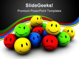 Emotion Icons Shapes PowerPoint Template 0910