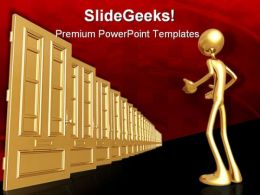 Endless Doors Business PowerPoint Templates And PowerPoint Backgrounds 0811