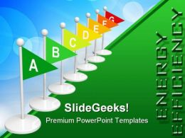 Energy Rating Flags Geographical PowerPoint Templates And PowerPoint Backgrounds 0311