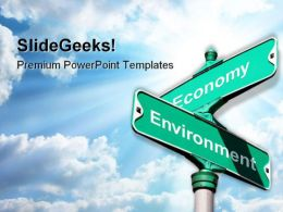 Environment Vs Economy Metaphor PowerPoint Templates And PowerPoint Backgrounds 0811