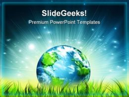Environmental Energy Concept Globe PowerPoint Templates And PowerPoint Backgrounds 0911