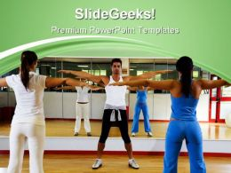Exercise Club Health PowerPoint Templates And PowerPoint Backgrounds 0611