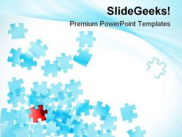 Falling Of Puzzles Business PowerPoint Templates And PowerPoint Backgrounds 0811