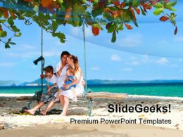 Family On Vacation Beach PowerPoint Templates And PowerPoint Backgrounds 0511