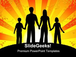 Family People Abstarct PowerPoint Template 0910